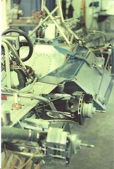 P34 test car sits in the Tyrrell workshop in Ockham Surrey