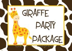 Giraffe Birthday Party Package CHOOSE ANY by CutiesTieDyeBoutique, $42.00