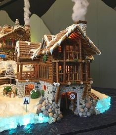 Gingerbread houses gingerbread house www.gingerbreadjournal.com Cool Gingerbread Houses, Gingerbread House Designs, Gingerbread House Parties, Gingerbread Village, Christmas Gingerbread House, Christmas Goodies, Christmas Treats, Christmas Baking, Christmas Time