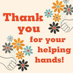 Make your flyers and newsletters more colorful with free volunteers clip art from PTO Today! Helping Hands Quotes, Thank You Quotes For Helping, Thank You Gifts, Volunteer Appreciation Gifts, Appreciation Message, Volunteer Gifts, Employee Appreciation, Thank You Poster, Thank You Volunteers