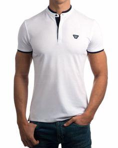 Resultado de imagen para franelas deportivas para caballeros cuello mao  Camisa Cuello Mao Hombre 6ff6179018e