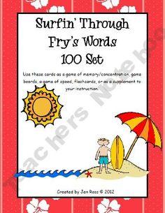 beach theme fry words
