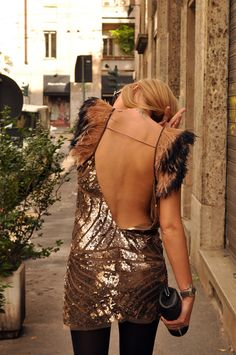 hot- backless sequins & feathers - would love to know where i could buy this!