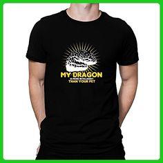 Teeburon My Dragon is more intelligent than your pet T-Shirt - Fantasy sci fi shirts (*Amazon Partner-Link)