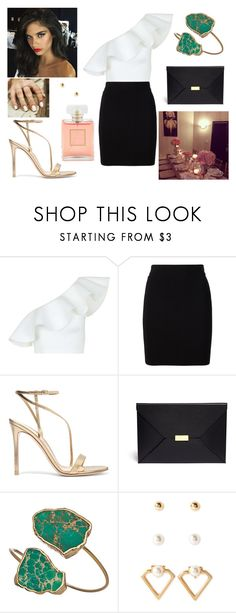 """13/09/17"" by milena-serranista ❤ liked on Polyvore featuring Topshop, T By Alexander Wang, Gianvito Rossi, STELLA McCARTNEY, Janna Conner Designs, Forever 21 and Chanel"