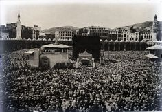 The Haram, Sacred Mosque in Mecca in 1918. From the #LowellThomas Collection