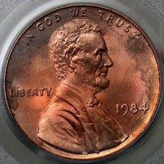 1984 double ear Lincoln penny.