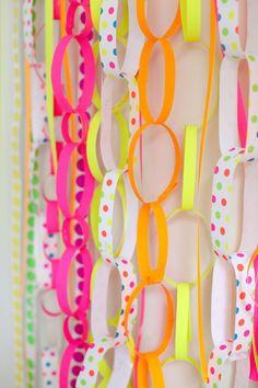 #backdrop #neon   Read more - http://www.stylemepretty.com/2013/04/26/party-theme-neon-celebration/