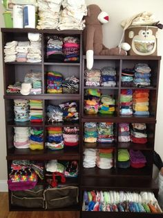 Geez this is a lot of diapers...Cloth Diaper Stash Storage