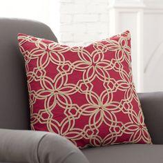 Birch Lane Zena Cotton Pillow Cover, Red | Birch Lane