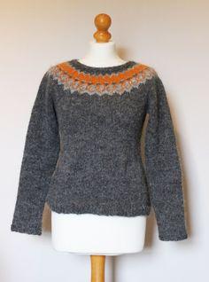 Strokkur Jumper, knit by me knit from Strokkur pattern by Ysolda Teague, knit using Lett Lopi Icelandic Wool, completely hand knitted. Fair Isle Knitting, Knitting Socks, Hand Knitting, Knitting Patterns, Icelandic Sweaters, Sweater Fashion, Knitwear, Knit Crochet, Ravelry
