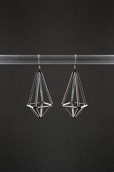 Himmeli inspired geometric earrings dangle earrings by AlmostDone