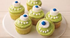 Take JELL-O to another level with our Mike Wazowski Cupcakes recipe. Our desserts are easy to make and hard to resist. View the recipe now at http://www.jello.com/recipe/mike-wazowski-cupcakes?utm_source=share-pinterest_medium=social_campaign=share-clickback-landing.