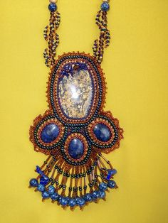 My first real bead embroidery piece, beyond just doing a bezeled cabochon.