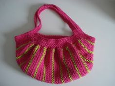 Pink and Green Fat Bottom Bag - CROCHET