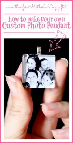 """Want to know how to make a glass tile pendant?? They're super easy – you can do this! Here's a brief tutorial. They can end up costing less than $1.70 each – wow! Perfect for gifts. What a great craft – I had one mom comment to me """"this is a great craft that spans...Read More »"""