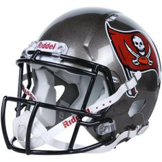 NFL Tampa Bay Buccaneers Speed Authentic Football Helmet by Riddell. $224.32. Available in official team colors and decals.. Collectible, not to be worn for play.. With its new distinctive shell design, the Speed helmet is being adopted by premier athletes at a furious pace.. Large shell, aggressive facemask, authentic internal padding, and 4-point chinstrap.. Great for autographs.. The Speed Authentic Helmet is the ultimate Tampa Bay Buccaneers fan collectible he...