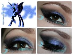 Luhivy's favorite things: My Little Pony Series : Nightmare Moon Inspired Makeup