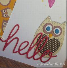 Owl Card, cardmaking, diecutting; Sizzix Big Shot, biglietto Gufo