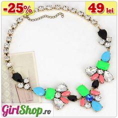 Colier statement cu pietre -> doar 49 lei  http://www.girlshop.ro/cumpara/colier-statement-cu-pietre-142  #colier #statement #necklace