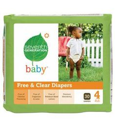 Seventh Generation Diapers - These are the best of all the chlorine free diapers.  They work just as good as huggies, but better for baby/environment.  If you get them through AmazonMom, they cost the same as regular diapers!