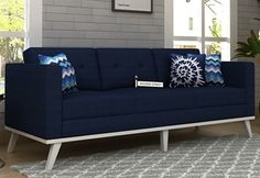 Leroy 3 Seater Fabric Sofa in Indigo Ink is ravishing piece of furniture. The elegant design of three seater sofa is sufficient to create an exquisite ambience in the living room. To witness the alluring change, buy 3 seater sofa online in #Mumbai #Noida #Chandigarh