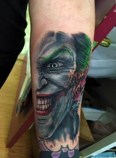 joker tattoo batman tattoo joker portrait