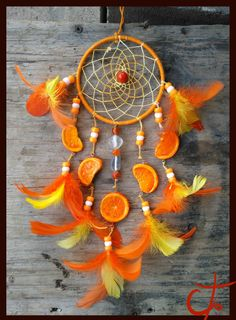 Orange Dreamcatcher by Ctougas01.deviantart.com on @DeviantArt