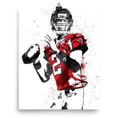 """Matt Ryan poster. Nicknamed """"Matty Ice,"""" is an American football quarterback for the Atlanta Falcons of the National Football League (NFL). After playing college football for Boston College, Ryan was"""