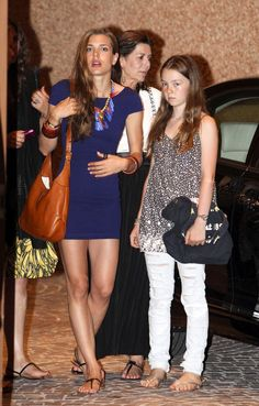 Charlotte Casiraghi and Princess Alexandra - Royal Family of Monaco at an Eagles Concert