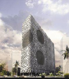 Parametric Designed Transformative Facade for Mumbai School by Sanjay Puri.