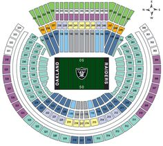 Mcafee Coliseum Seating Chart1 Gif 588 526 Oakland Raiders