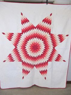 Vintage-Antique-Handmade-Quilt-Long-Star-Quilt-30s-Texas-Quilt Price $ 450.00