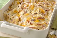 New-Look Scalloped Potatoes and Ham recipe...I think I'll cook this for the boys and figure out a way to sneak veggies in it. :)