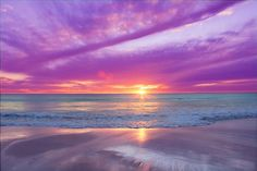 sunset - look at these colors. Amazing!