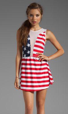 For Love & Lemons Lulu Dress- American Flag