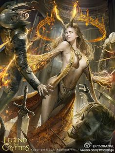 Artist: Wang Song aka The 7th Orange - Title: Unknown - Card: Magical Weapon Ulrika (Sentiment)