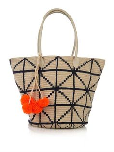 Oona woven-cotton tote   Sophie Anderson   MATCHESFASHION.COM