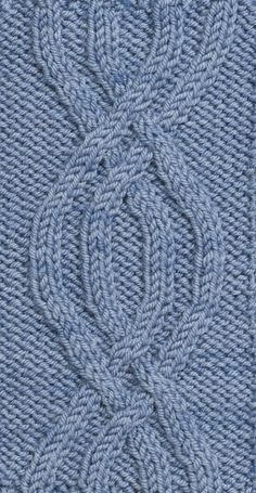 This Symmetrical Pretzel Knit Cable Pattern is both symmetrical and graceful. Free pattern from Cable Left, Cable Right by Judith Durant. Cable Knitting Patterns, Bamboo Knitting Needles, Knitting Basics, Knitting For Beginners, Knitting Designs, Knitting Projects, Knitting For Kids, Easy Knitting, Loom Knitting