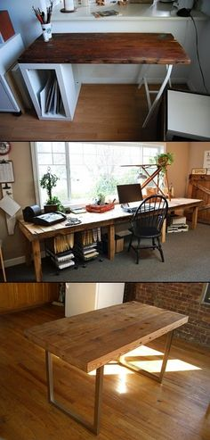 DIY Reclaimed Wood Desks For Your Home Office