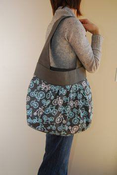 Bicycle Bag by Stitch248 on Etsy, $65