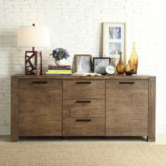 Myra II Modern Rustic Walnut Driftwood Buffet | Overstock.com Shopping - The Best Deals on Buffets