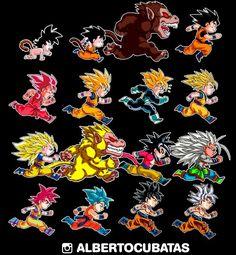 Evolutions of Goku updated