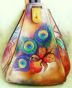 SALE- Painted Leather Anuschka  Purse-  $150.00  This sale will only last until Monday....after Monday, the purse will not be available any longer.