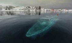 17 - Sunken yacht in Antarctica