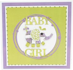 Featuring the Elephant Die and Baby, Boy & Girl Classic from Tattered Lace Dies Kids Cards, Baby Cards, Tattered Lace Cards, Little Monsters, First Baby, Birthday Cards, Elephant, Card Making, Scrapbook