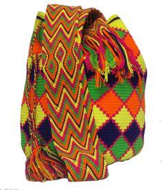 www.mochilaswayuubags.com whatsapp +57 320 345 9226 #wayuu #crochet #handmade #crochet #boho #bohostyle #bohochic #hippie #cartagena Tribal Bags, Do Men, Dark Brown Color, Light Pink Color, Turquoise Color, Electric Blue, Online Bags, Handmade Bags, Boho Fashion