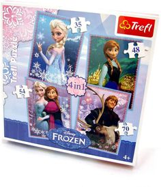 House of Fraser Disney Frozen 4 in 1 jigsaw puzzle