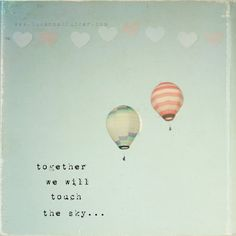 Whimsical hot air balloon photo, typographic print, hearts, sky, red and white stripes, nursery art, childrens wall art, 8x8 photo