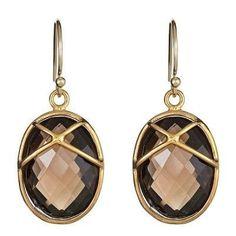 Wire Earrings, Earrings Handmade, Drop Earrings, Glam Closet, Jewelry 2014, Wallpaper Aesthetic, Smokey Topaz, Beige, Black Cream